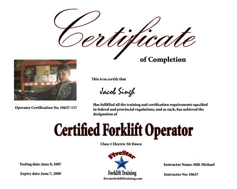 Forklift training template free / free forklift training certification card template vincegray to rectify this, download see more ideas about forklift, card template, certificate templates pins. Forklift Operator Certificate Template | williamson-ga.us
