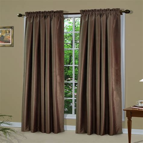 shangri la thermal insulated pole top curtain panel