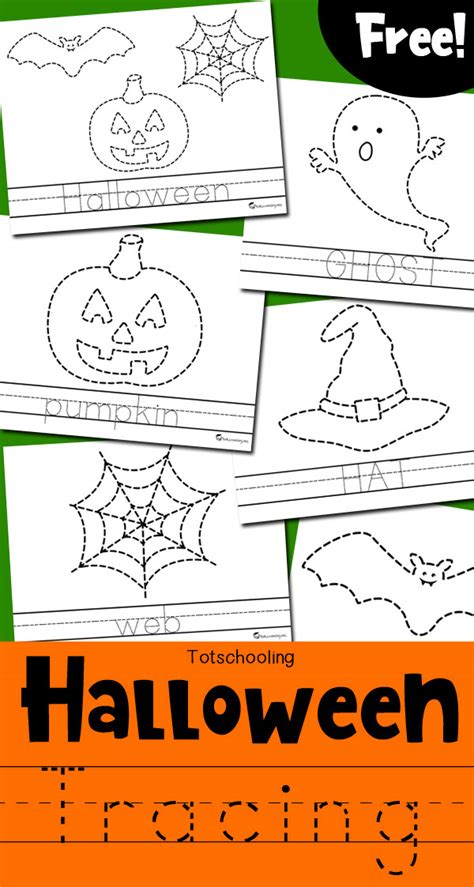 tracing worksheets totschooling toddler 590 | Halloween Tracing