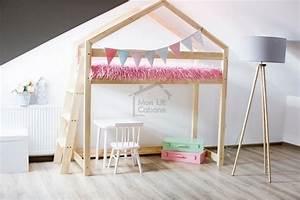 Lit Cabane Mezzanine : mon lit cabane mezzanine maman chou ~ Melissatoandfro.com Idées de Décoration