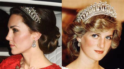 kate middleton wears princess dianas tiara