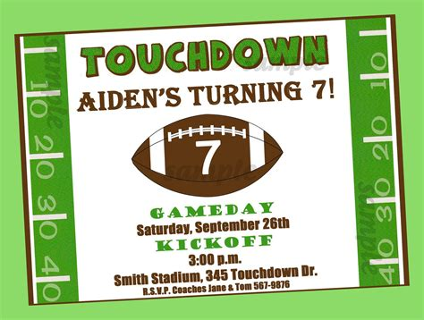 Football Birthday, Birthdays And Party Invitations Microsoft Office 2007 Templates Download Business Cards Template Access Client Database High School Summer Internship Michael Lynch Family Lawyers 2013 Apa Merry Christmas Printable Menu Card For Restaurant
