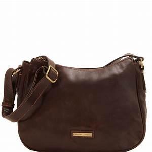 Sac Bandoulière Cuir Marron : sac bandouli re classique cuir femme tuscany leather ~ Melissatoandfro.com Idées de Décoration