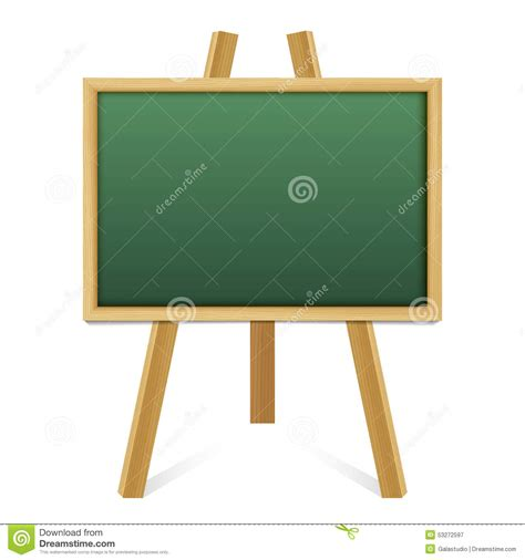 Chalk Green Board In A Wood Frame On White Background