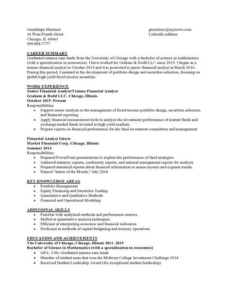 Finance Low Experience | Resume Samples Templates | Vault.com