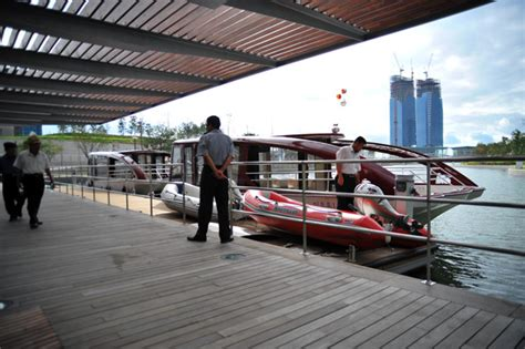 Central Park Boat Dock by New Songdo City Central Park And Canal Arup A Global
