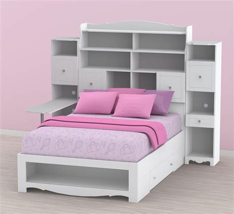 bed with desk and storage nexera pixel full tall bookcase storage bed with desk n