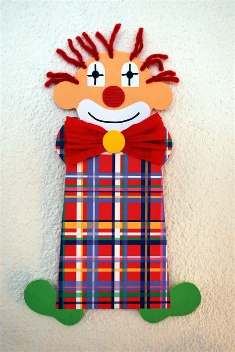 faschingsdeko basteln mit kindern clown basteln adventskalender clown basteln fasching