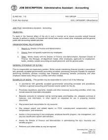 resume format template for job description administrative assistant job description office sle slebusinessresume com