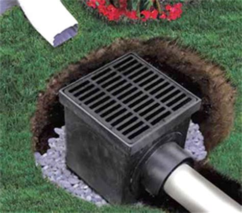 Catch Basin In Backyard by Catch Basin Kit With Slotted Polyolefin Grate 12 X 12