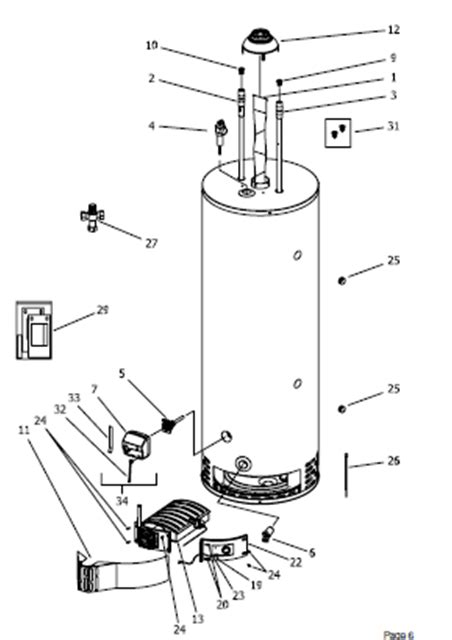dford white electric water heater parts diagram diagrams