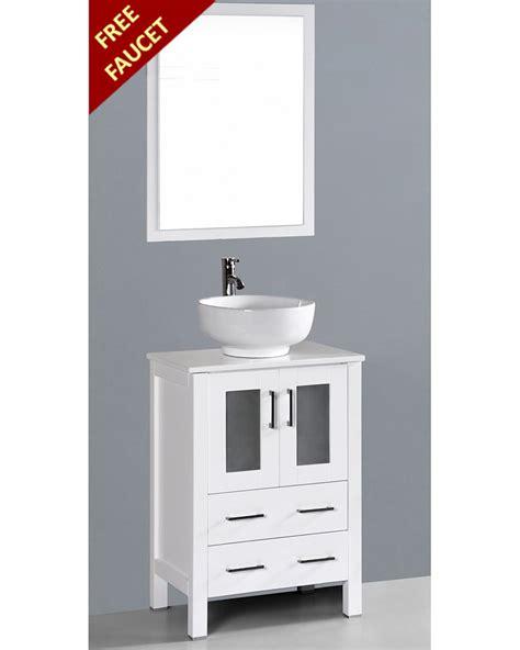 round vessel sink vanity white 24in round vessel sink single vanity by bosconi