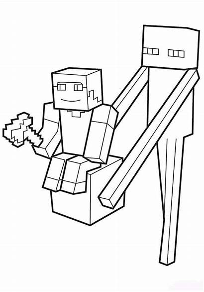 Minecraft Coloring Pages Title Slender Character Fun