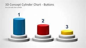 3D Cylinder Chart Concept for PowerPoint - SlideModel