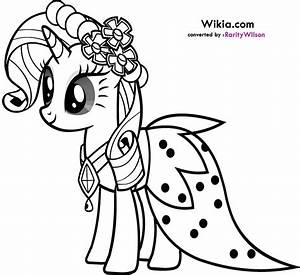 My Little Pony Rarity Coloring Pages | Team colors