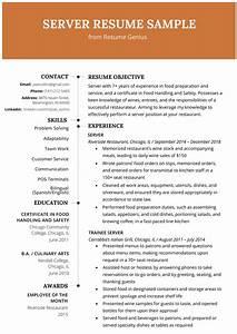 Server Resume Example Writing Tips Resume Genius