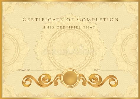 golden certificate diploma background template royalty