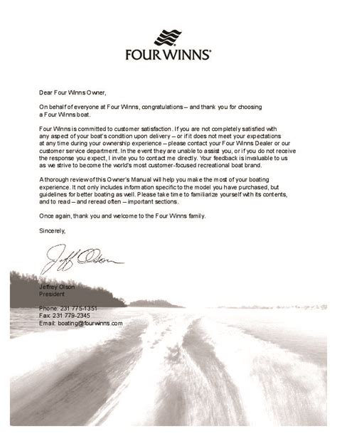 Four Winns Boat Owners Manual by Four Winns Vista 338 Boat Owners Manual 2007 2008