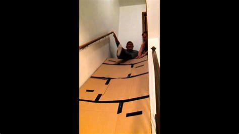 Cardboard Stair Slidedonnie Youtube