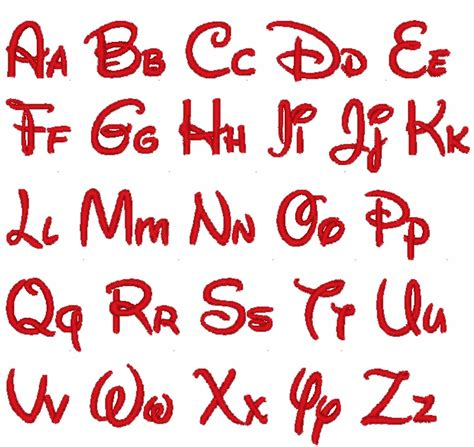 3 inch pes only disney font embroidery file fonts disney mickey and mickey mouse