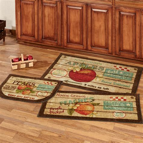 kitchen rug sets fruit crate 3 pc kitchen accent rug set