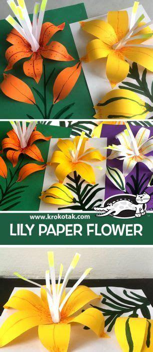 krokotak children activities    coloring pages paper flowers paper flower