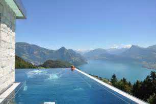 hotel villa honegg schweiz heated infinity pool at hotel villa honegg offers sweeping views of swiss alps homecrux