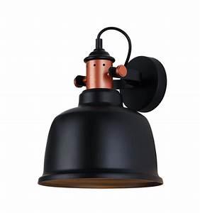 Lampe Murale Industrielle : applique murale loft design en cuivre avec abat jour noir dalia ~ Teatrodelosmanantiales.com Idées de Décoration