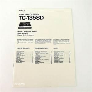 Sony Tc User