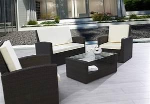 meuble salon de jardin salon de jardin fauteuil With meubles de jardin en resine tressee