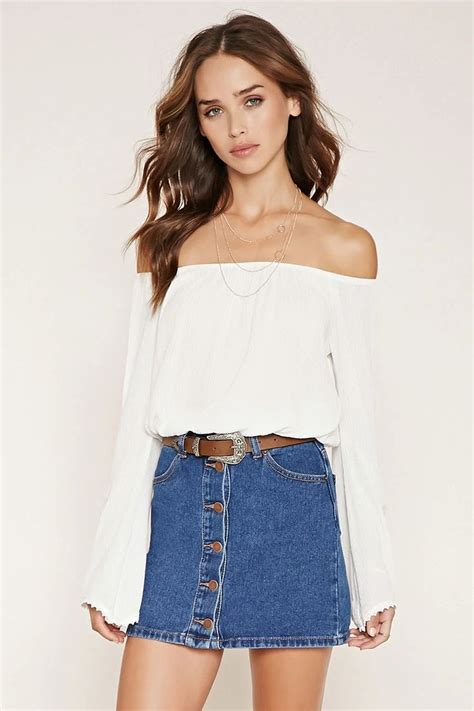off the shoulder peasant top f21xmusic forever 21