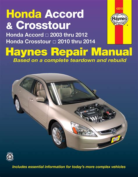 old cars and repair manuals free 2012 honda odyssey interior lighting honda accord 2003 2012 crosstour 2010 2014 haynes repair manual usa haynes publishing