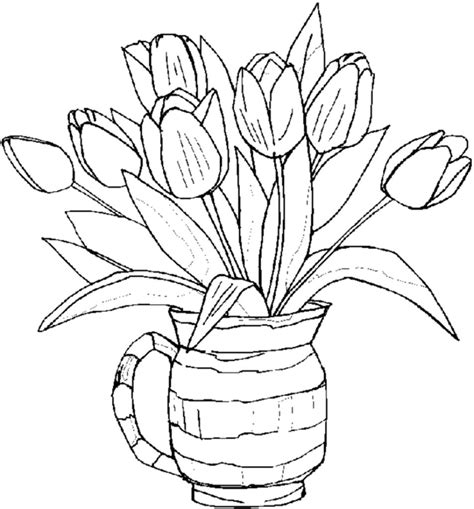 Coloring Flower by Free Printable Flower Coloring Pages For Best