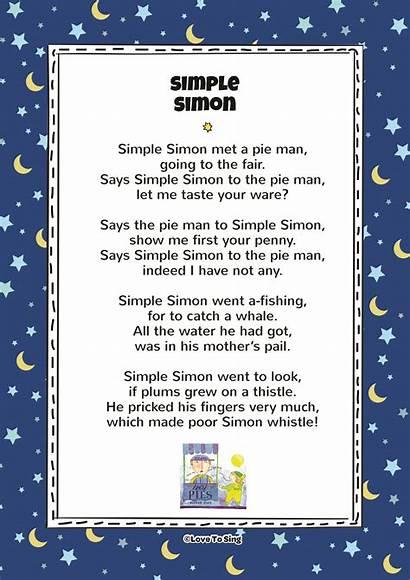 Simon Simple Lyrics Song Pdf Poem Rhyme