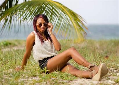 Honduran Island Beach Woman African Honduras Latina