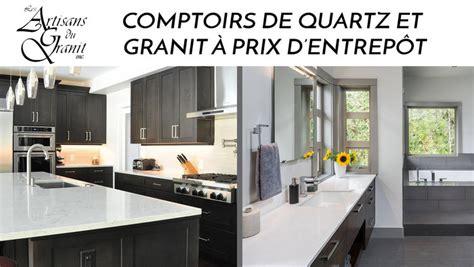 comptoir de cuisine quartz ou granit comptoirs quartz granit meilleur prix lesventes ca