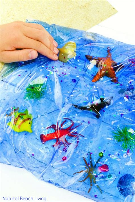 35 theme activities for preschool and kindergarten 810 | Ocean life sensory bag pin2 683x1024