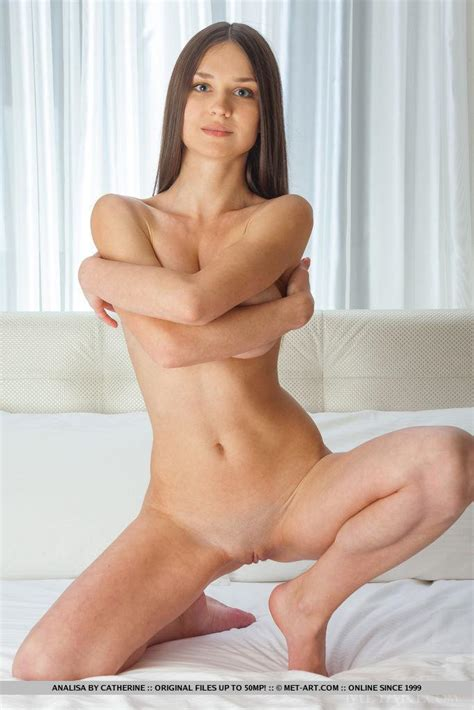 Beautiful Brunette Girl Analisa Strips Completely Naked