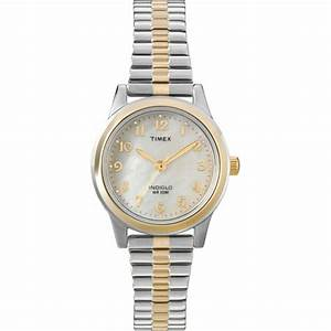 Ladies Timex Indiglo Two Tone Stretch Expansion Stainless