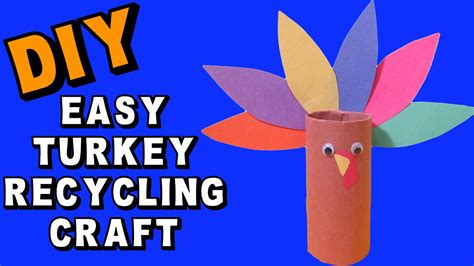 simple paper turkey craft easy thanksgiving turkey recycling diy craft klatch 5430