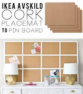Kork Pinnwand Ikea : ikea placemats to framed cork board ~ Michelbontemps.com Haus und Dekorationen