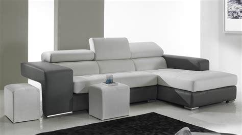 canapé d angle et noir canapé d 39 angle en cuir noir et blanc pas cher canapé
