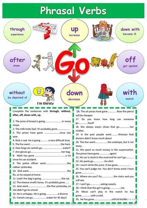 """Phrasal Verbs """"go"""" Worksheet  Free Esl Printable Worksheets Made By Teachers"""