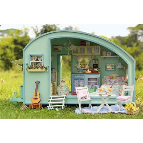 do it yourself en bois maison de poup 233 es miniature kit caravane maisons de poup 233 es