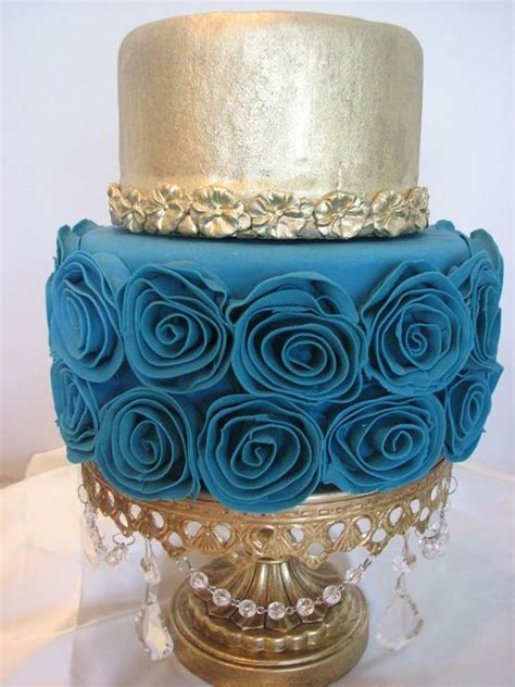southern blue celebrations teal wedding cake ideas
