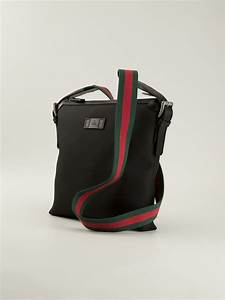 ed35b8a6377edb Gucci Messenger Bag. lyst gucci flap messenger bag in black for men ...