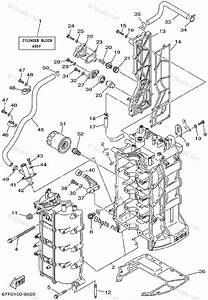 Yamaha Outboard Parts By Hp 100hp Oem Parts Diagram For