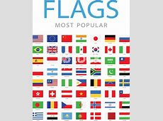 World Most Popular Flags Illustration Stock Vector Art