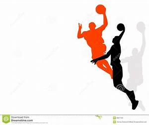 Basketball players stock vector. Image of activity, action ...