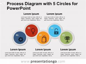 Process Diagram With 5 Circles For Powerpoint